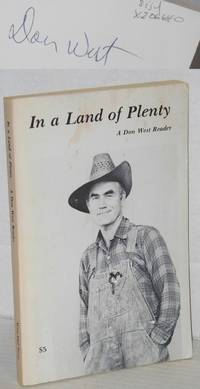 image of In a land of plenty; a Don West reader