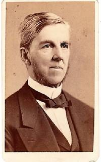 CARTE DE VISITE OF AMERICAN PHYSICIAN & POET, OLIVER WENDELL HOLMES, PHOTOGRAPHED BY WARREN STUDIOS