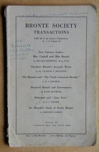 Bronte Society Transactions. Part 66 of the Society's Publications: No. 1 of Volume 13
