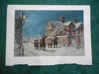 "'An Old Time Christmas' PRINT - A Coloured Lithograph from ""The Boy's Own  Paper"". Annual"