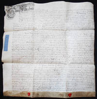 image of Handwritten Parchment Document regarding Appointments to the Parsonages of Ditchingham, Forncett, Starston, and Alborough in Norfolk County, England