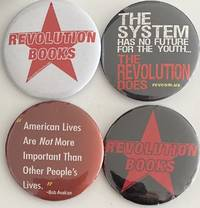 image of [Four different pins from Revolution Books]