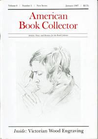 image of RAYMOND CARVER: A Bibliographical Checklist. (In American Book Collector. Volume 8, Number 1, New Series. January 1987.
