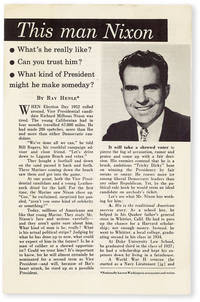 This Man Nixon. What's he really like? Can you trust him? What kind of President might he make someday