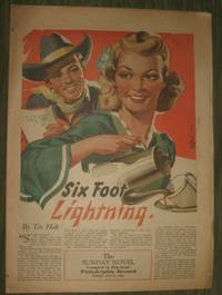 image of Six Foot Lightning     Philadelphia Record Sunday Supplement July 11, 1943