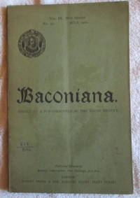 image of Baconiana, Volume 9, New Series, July 1901