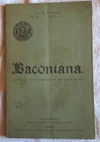 Baconiana, Volume 9, New Series, July 1901