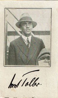 MAGAZINE PORTRAIT OF GERMAN EXPRESSIONIST PLAYWRIGHT ERNST TOLLER SIGNED BY HIM.