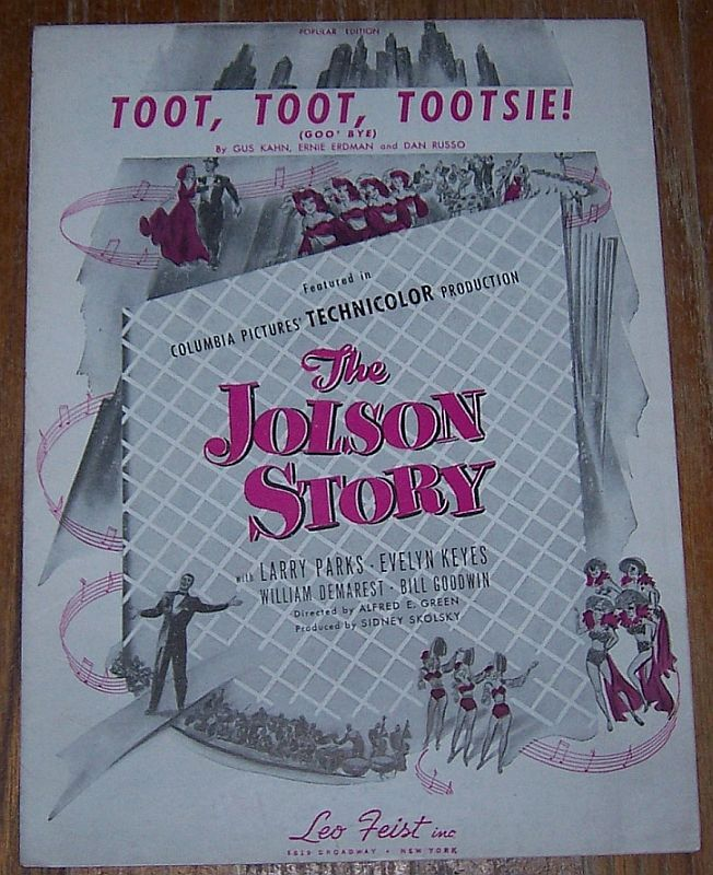 TOOT, TOOT, TOOTSIE GOOD-BYE Popular Edition, Sheet Music
