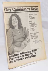 image of GCN: Gay Community News; the weekly for lesbians and gay males; vol. 8, #28, February 7, 1981; Author Michelle Cliff claims her identity as a Black Lesbian
