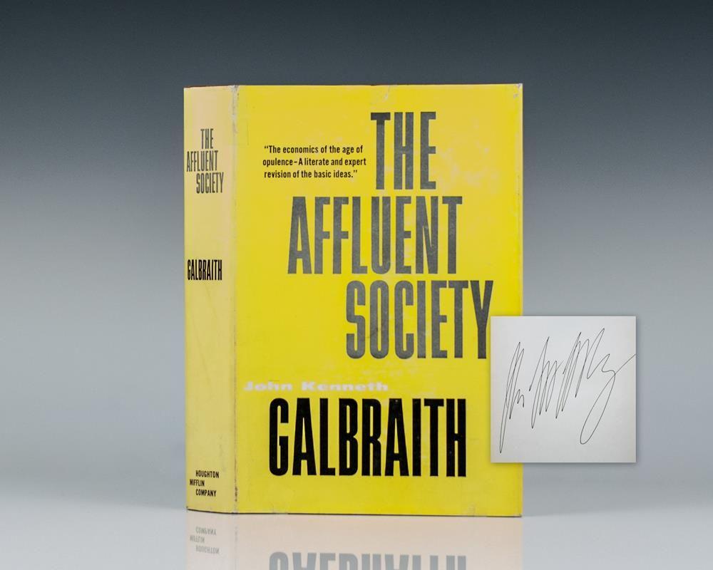 john kenneth galbraith the affluent society pdf