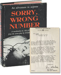 Sorry, Wrong Number (First Edition, review copy, with letter from Paramount publicity to actress Mary Nash)