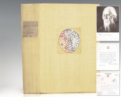 Calcutta: The Golden Book Committee, 1931. First subscribers' edition of The Golden Book of Tagore, ...