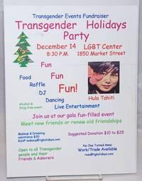 image of Transgender Holiday Party [handbill] December 14 8:30 pm LGBT Center, SF