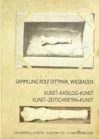 Sammlung Rolf Dittmar, Wiesbaden. Katalog-Kunst-Kataloge Kunst-Zeitschriften-Kunst [14 November 2000]