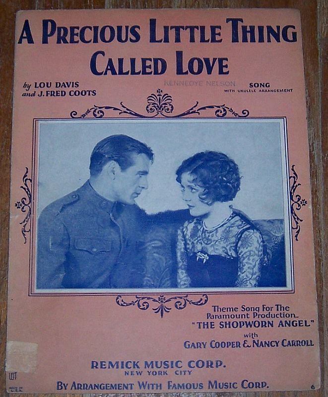 PRECIOUS LITTLE THING CALLED LOVE, Sheet Music