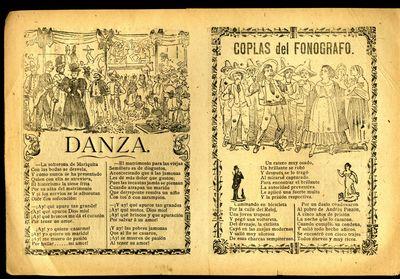 Mexico: A. V. Arroyo, 1910. Unbound. Very Good Condition. Broadside canción with three illustration...