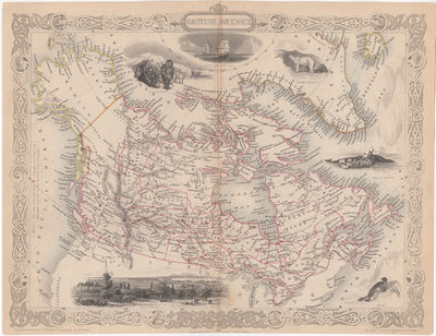 [Map] British America. [with view of...