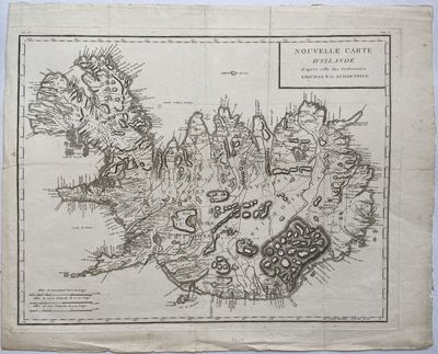Paris: S.M. Danoise, 1802. Map. Black and white engraving. Measures 17.25 x 22.25 inches. Foxing and...