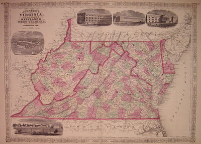New York: Johnson & Ward, 1866. unbound. very good(+). Map. Engraving with original hand coloring. I...
