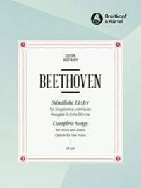 Beethoven: Complete Songs Low Voice