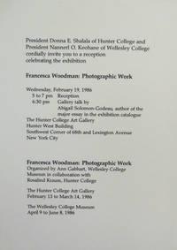 image of Francesca Workman:  Photographic Work (Exhibition Announcement Card)