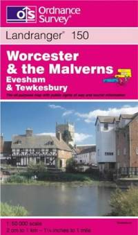 image of Worcester and the Malverns, Evesham and Tewkesbury (Landranger Maps)