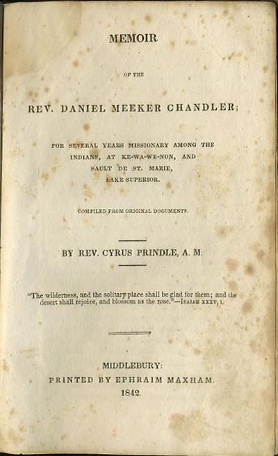 Middlebury: Printed by Ephraim Maxham, 1842. First edition. Cloth. Lacking backstrip, boards rubbed ...