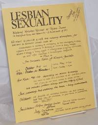 image of Lesbian Sexuality Weekend Workshop/Retreat at Pajaro Dunes [handbill]