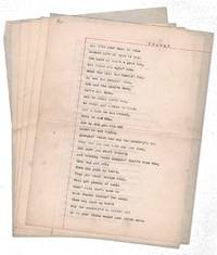 """""""Trash?"""" [Anonymous manuscript poem of 149 lines (5pp) in the voice of a Depression-era refugee]"""