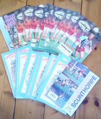 Scunthorpe United FC : Mixed collection of 21 programmes and 1 Iron Knut