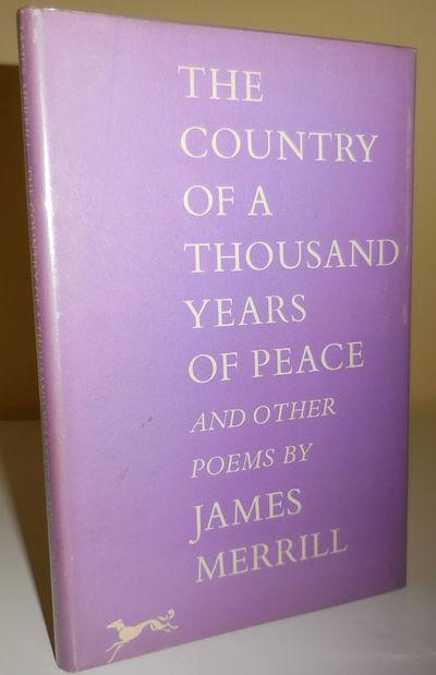 New York: Alfred Knopf, 1959. First edition. Cloth. Near Fine/near fine. Cloth 8vo in dustwrapper. 7...