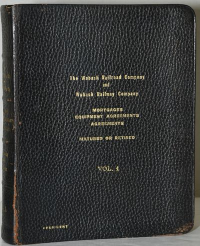 Full Leather. Very Good binding. A copy of Volume I only of The Wabash Railroad Company and Wabash R...