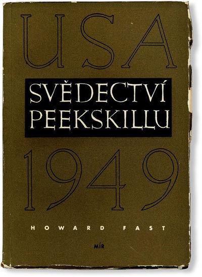 Prague: Edice za Mir, 1952. First Czechoslovakian edition. 12mo; printed card wrappers; yapp edges; ...