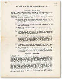 image of The Bylaws [By-Laws] of the Hyde Park Co-Operative Society, Inc