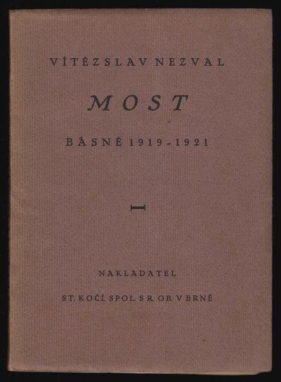 Brno: Nakladatelství B. Ko�í, 1927. Octavo (18.5 × 13 cm). Original printed wrappers; 74...