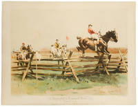 Steeplechase at Hempstead Farms, October 21, 1893. Glenfallon passing Vanity at the In-and-out Jump