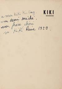 Kiki Souvenirs. Les Souvenirs De Kiki, Preface De Foujita, Six Illustrations et Reproduction  De Vingt Tableaux De L'auteur, Dix Photographies De Man Ray, Kiki Par Kisling, Foujita, Per Krohg, Hermine David, Etc., Etc. by Kiki De Montparnasse - Hardcover - Signed - 1929 - from marilyn braiterman rare books (SKU: 4408)