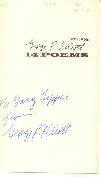 Lanham, MD: Goosetree Press. Very Good with no dust jacket. 1964. Softcover. Mylar over self wrapper...