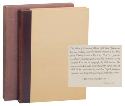 Rochester: The Printing House of Leo Hart, 1931. First edition. Hardcover. Number 573 from an editio...