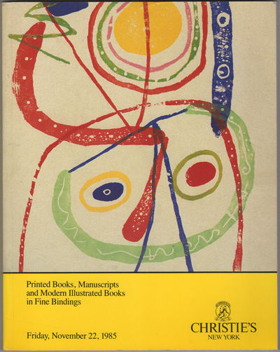 New York: Christie's. Christie, Manson & Woods, 1985. First edition. Illustrated paper wrappers. A n...