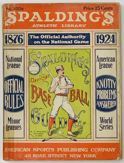 New York: American Sports Publishing Company, 45 Rose Street, 1924. 1st printing thus. Red, blue & p...