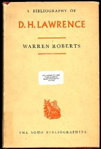 A Bibliography of D. H. Lawrence by  Warren Roberts - First edition - 1963 - from The Glass Key (SKU: 85815)
