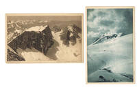 2 PHOTOGRAPHIC POSTCARDS OF THE AUSTRIAN ALPS BY THE NOTED NATURALIST HERBERT LANG