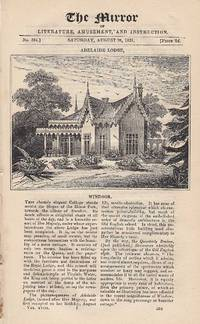 Adelaide Lodge, Windsor and On the Intellect of Animals. A complete rare weekly issue of the...