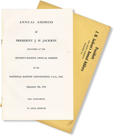 . First Edition. Pamphlet. Jackson's first annual address before the Convention as its sitting Presi...