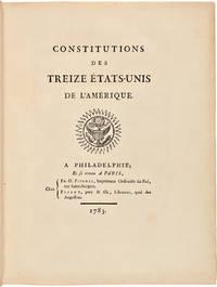 Constitutions des Treize États Unis de l'Amérique