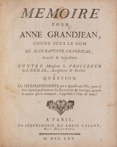 Memoire pour Anne Grandjean, connu...