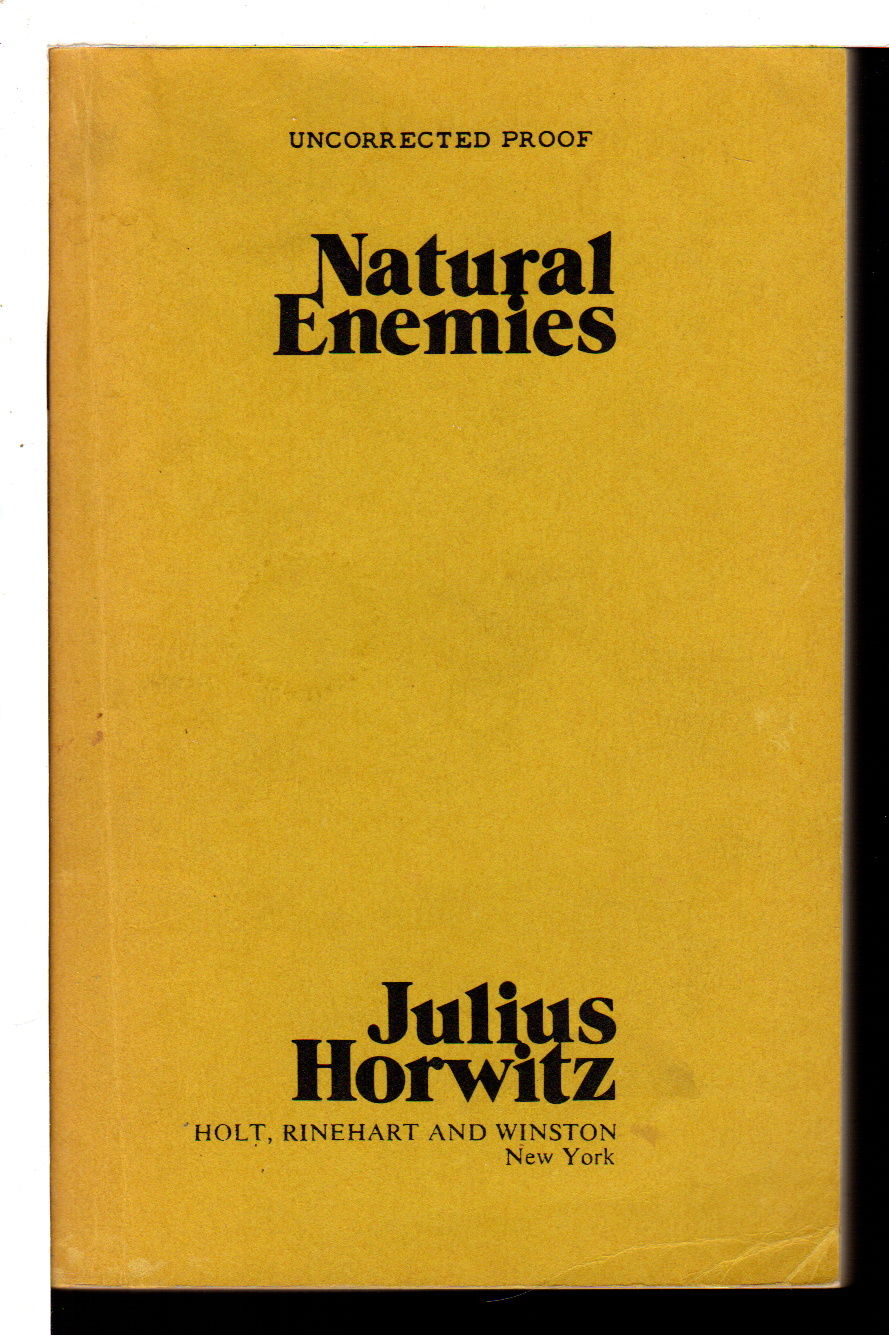 NATURAL ENEMIES, Julius Horwitz ,Movie tie-in, sb ,2ND Ballantine VG, 1978