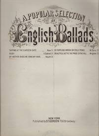 MY MOTHER BIDS ME BIND MY HAIR, A Celebrated Cazonet. Popular Selection of English Ballads Series.